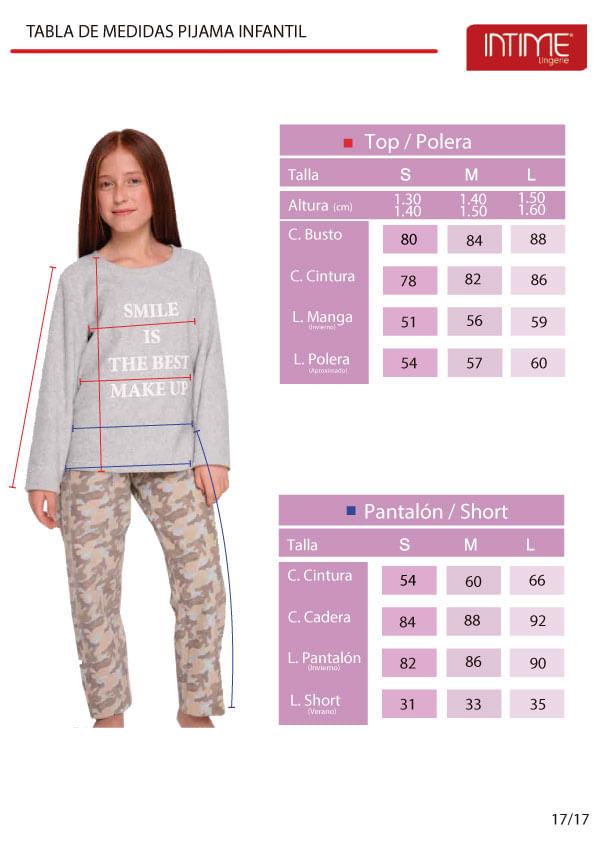 Pijamas niña Intime